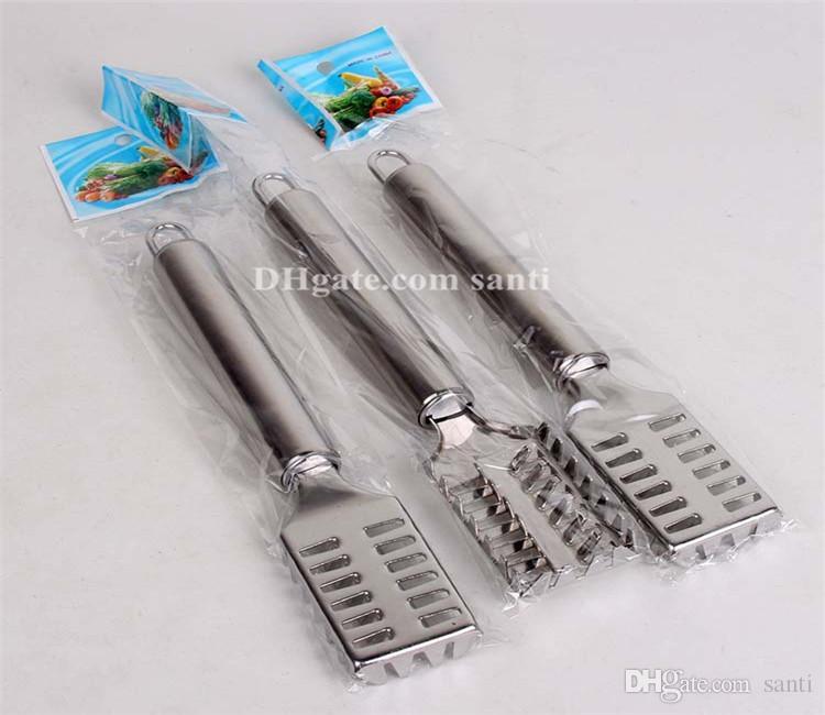 Originalità bilancia da cucina in acciaio inox Utensili da cucina multifunzionali Salviette pesce Decalcificante knifer