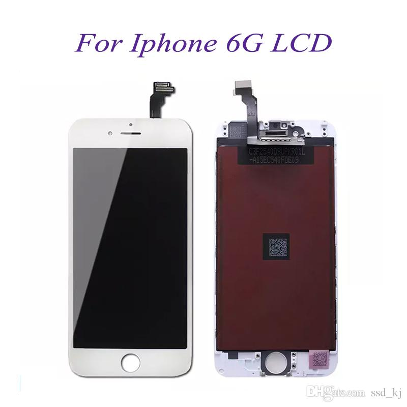 differently 9bf3a 272f2 LCD Screen For IPhone 6 6G Front Assembly 4.7 inch 6G LCD Display Touch  Screen Digitizer Glass Replacement With Mid-frame
