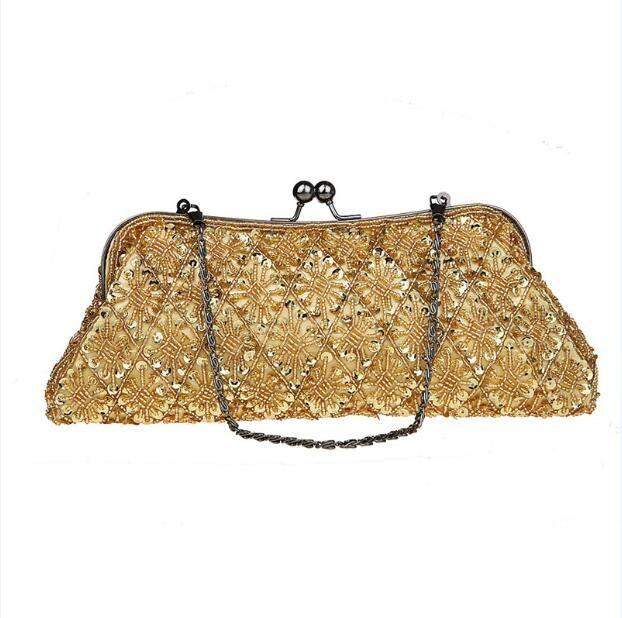18 pz 2017 Fashion Vintage Beads Sequib Borsa Da Sposa Festa Nuziale Borsa Della Frizione portafoglio make up bag by goodfaithgirl spedizione gratuita