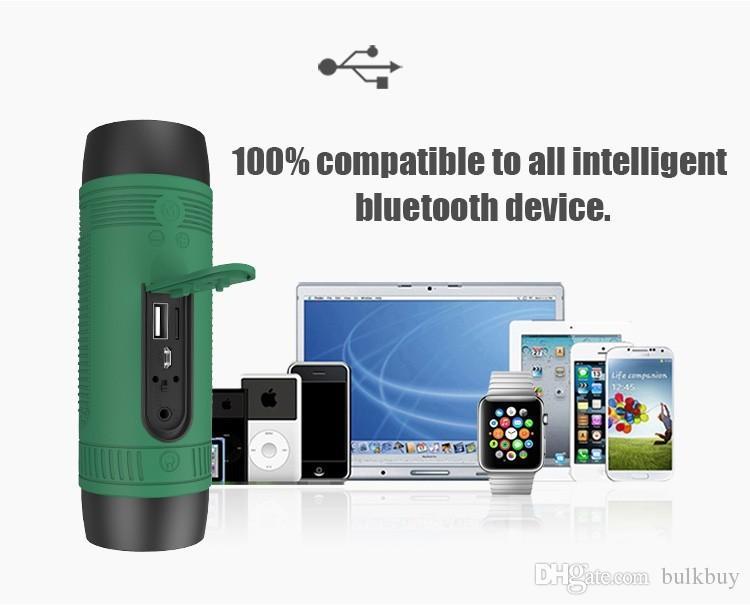 Portátil Zealot S1 Bluetooth Speaker 4000 mah Banco de Potência Recarregável + luz LED para o Esporte Ao Ar Livre e 3 em 1 função