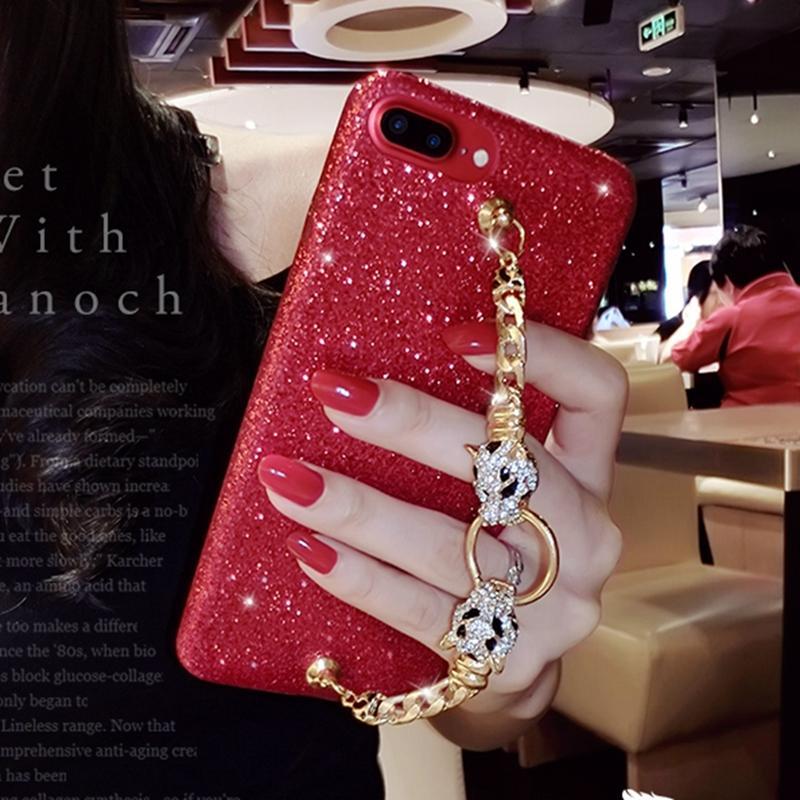 red glitter iphone 8 plus case