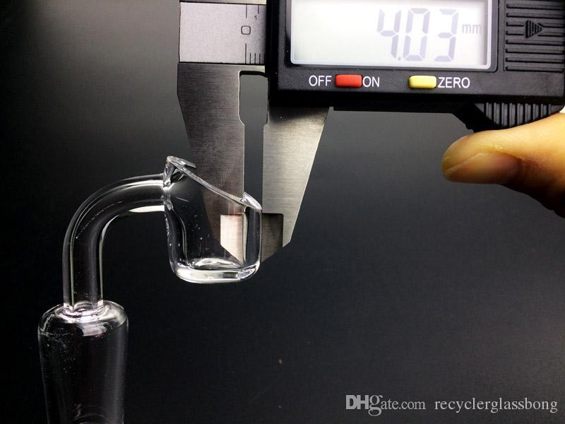 4mm Thick 100% Quartz Banger Nail Quartz Carb Cap Honey Buckets for Glass Oil Rigs Water Pipe Dab Rigs