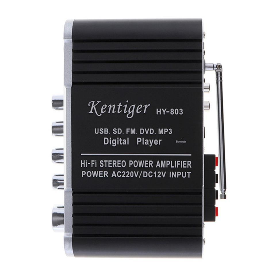 HY803 Mini Verstärker Auto Verstärker Bluetooth Verstärker 40 Watt + 40 Watt FM MIC MP3 für Motorrad Auto Heimgebrauch Unterstützung AC 220 V oder DC 12 V eingang
