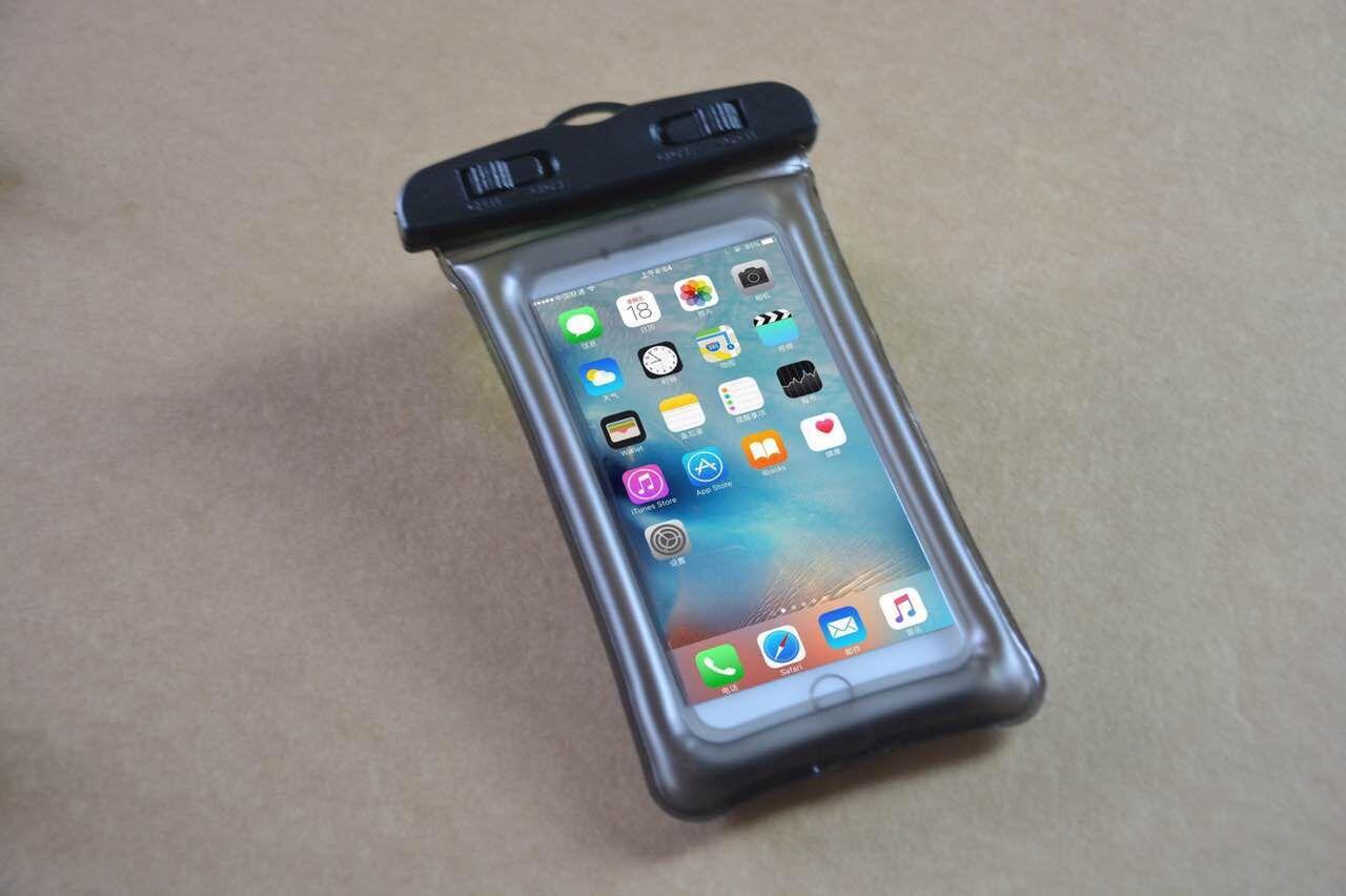 Flotteur Airbag Design IPX8 Étui Sec Pochette Étanche Transparent Universel Étanche Couverture de Téléphone Portable pour iPhone X 8 8plus