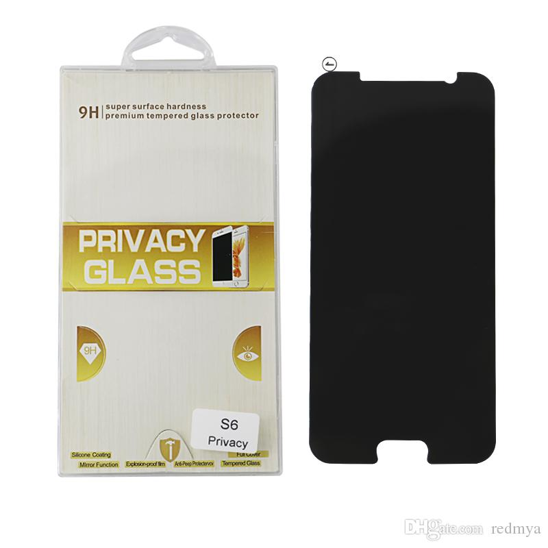 Для Samsung Galaxy S6 G920 G9200 G920 с антибликовым покрытием Анти-шпион Закаленное стекло Защитная пленка для экрана 0.3 мм Изогнутая полная крышка Защитное закаленное стекло