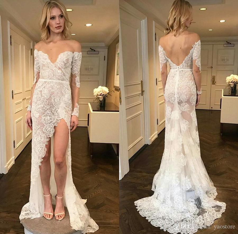 Sexy Grace Lace Off Shoulder Mermaid Wedding Dresses 2017 New High ...