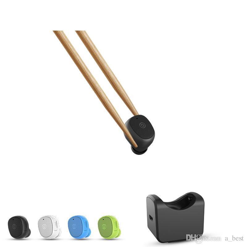 Mini sans fil Bluetooth écouteurs écouteurs Micro sport Casque stéréo Poids léger écouteurs avec station de chargement pour véhicules de montage Air Base de