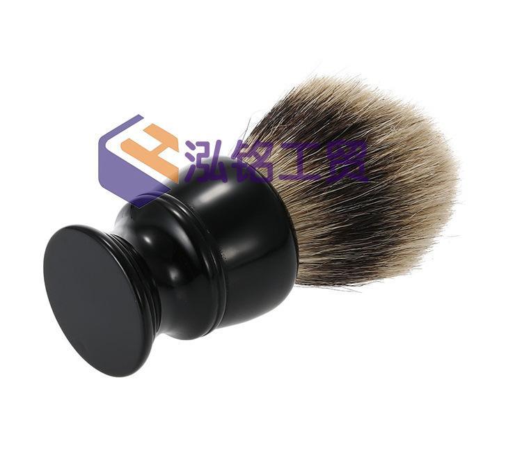 2017 ترف 100٪ النقي الأسود الغرير فرشاة الشعر الرطب الحلاقة أفضل الرجال حلاقة هدية الحلاق