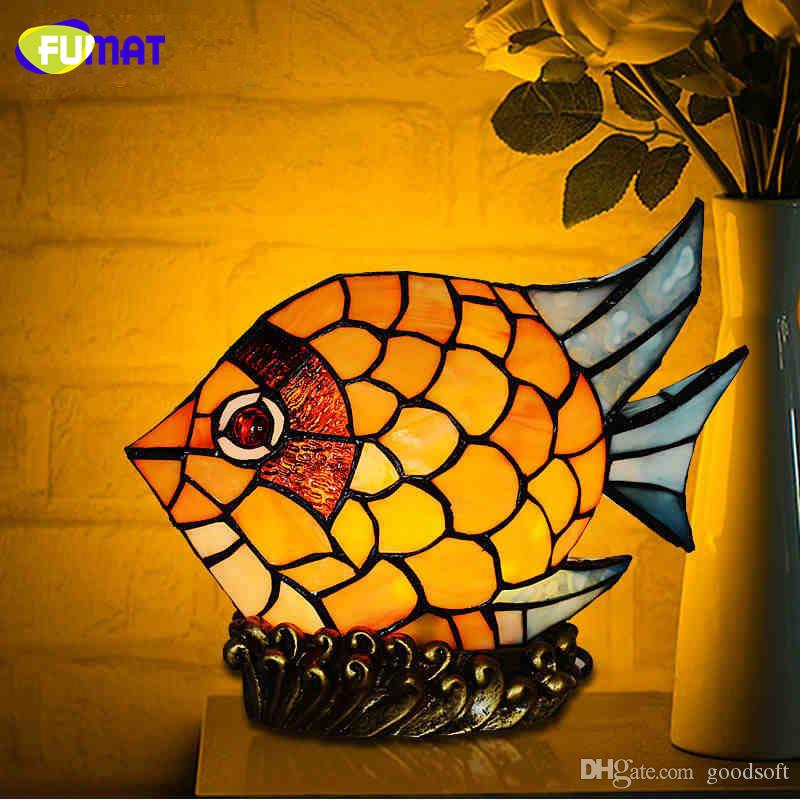 2018 Fumat Stained Glass Fish Lamp Creative Gfit Colorful Led Table Lamp  Home Decor Living Room Office Light Fixtures Kids Room Lamps From Goodsoft,  ...
