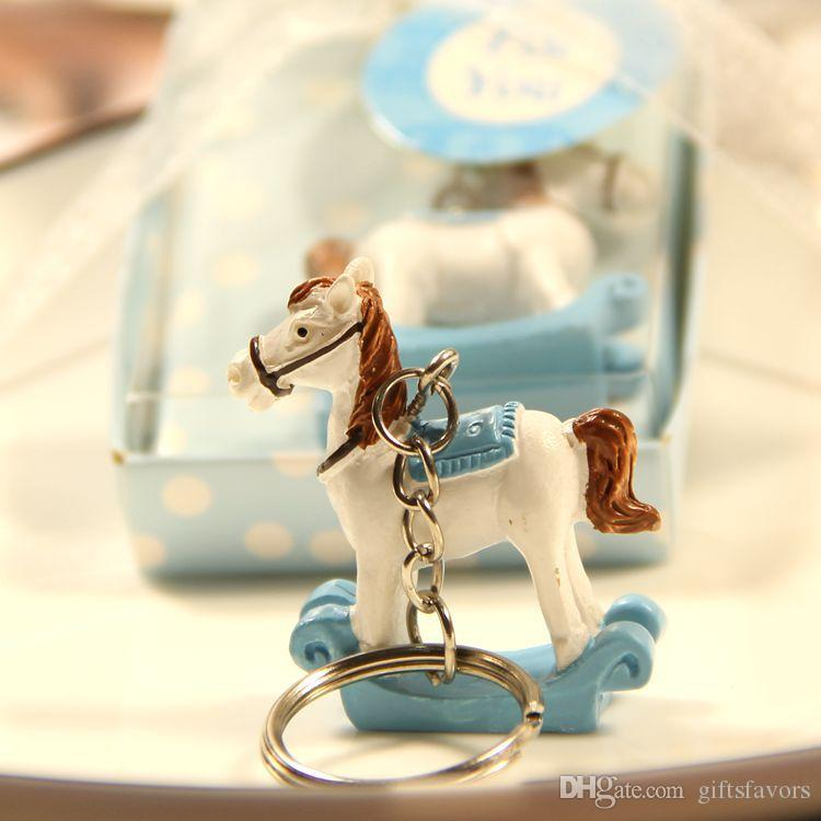 Baby Shower Keychain favors Trojan Baptism Girl boy keyrings gifts Party Supplies Favors Gifts For Guest