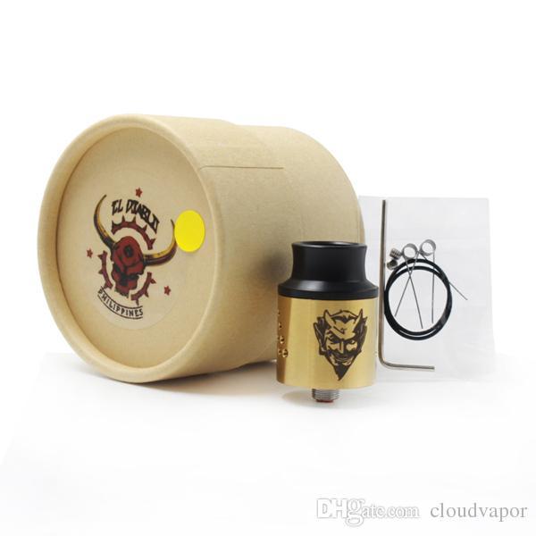 E Sigarette Baal V4 RDA Clone Easy Build Peek Insulator i in forma 18650 Batteria Vape mod DHL gratuito