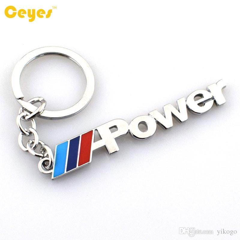 Car Key Ring Key Chain M-Power Emblem Badge For bmw e70 x5 e82 e92 e93 m3 x1 e87 e46 Auto Accessories Car Styling