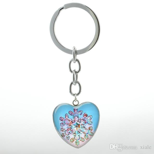 Elegant Ballet Dancing keychain vintage Irish Dance Gymnastics Dancer Ballerina key chain ring Snowflake Christmas jewelry HP145