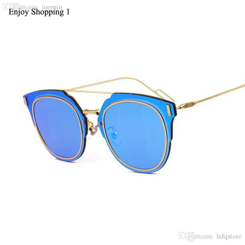 4fb09e1521 Wholesale-2016 New Fashion Sunglasses Women Brand Designer Sun Shades Round  Metal Glasses Fashion Men Classic Eyewear Oculos De Sol Sunglasses Pack  Glasses ...