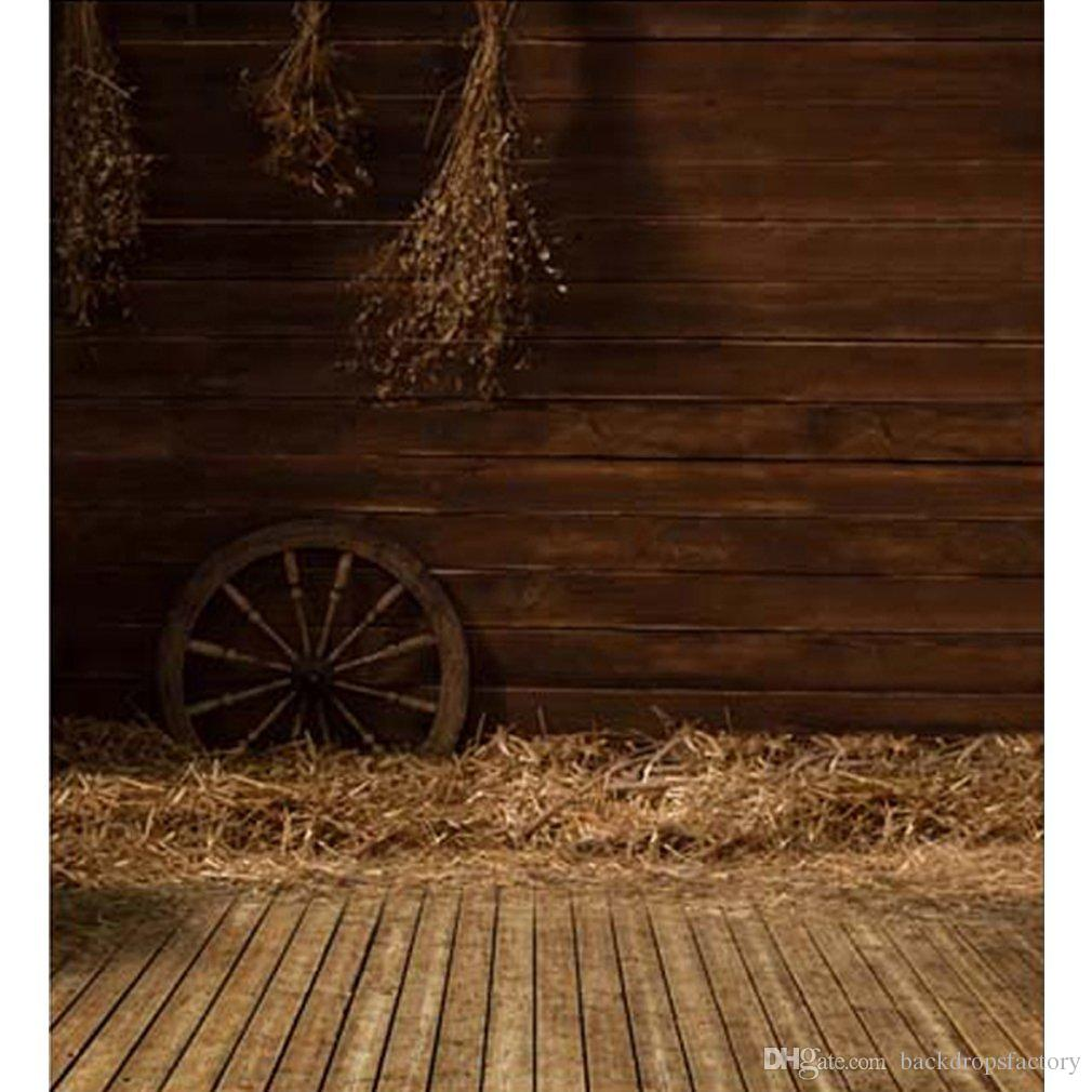 2018 vintage indoor photography backdrops wood floor straw