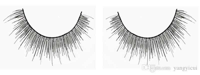 Fake Eyelashes Women Thick Crisscross Winged Natural Long Tapered Cotton Stalk Black Full Strip Lashes with Box 5 Styles