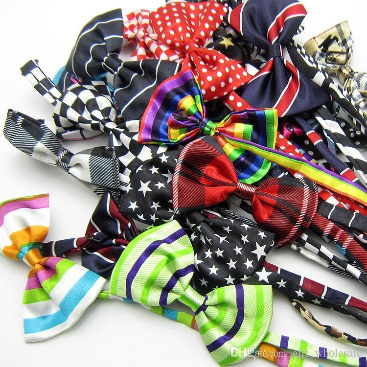 Mens Bowtie Bow Ties Pre-tied Adjustable Stripe Print Neck Bow Tie Fashion Accessories MOQ :