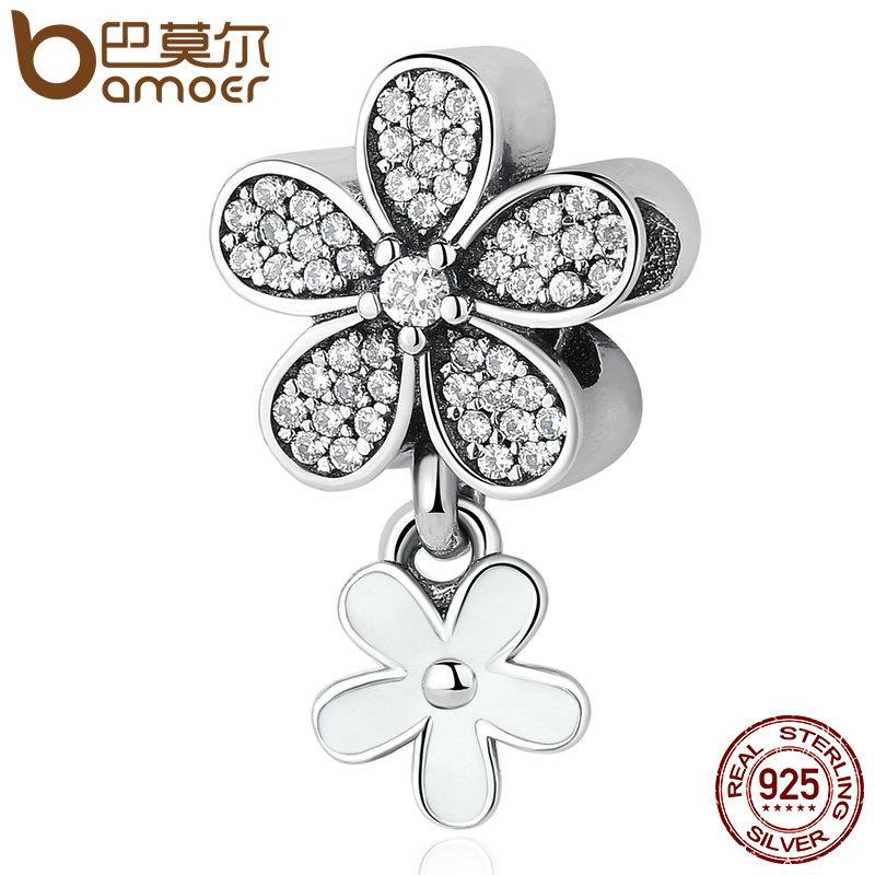 76216c389 2019 Pandora 925 Sterling Silver Dazzling Daisy Duo, White Enamel & Clear  CZ Pendant Charms Fit Bracelets & Necklaces Jewelry PSC077 From  Wendearjewlery, ...