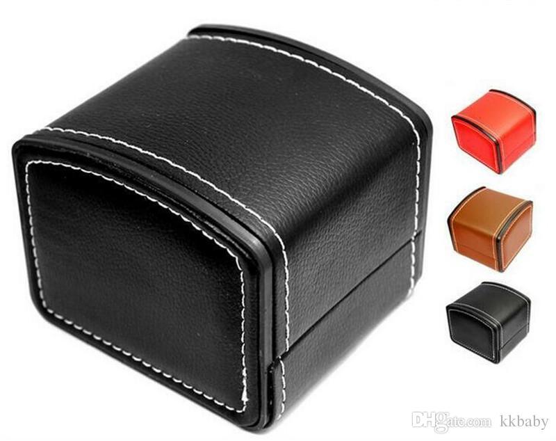 Boîtes de montre de luxe avec Oreiller PU boîtes de montre en cuir Mens Pour Watch Box Femme Hommes Montres Boîtes Pour Bangle Bague Boucles d'oreilles