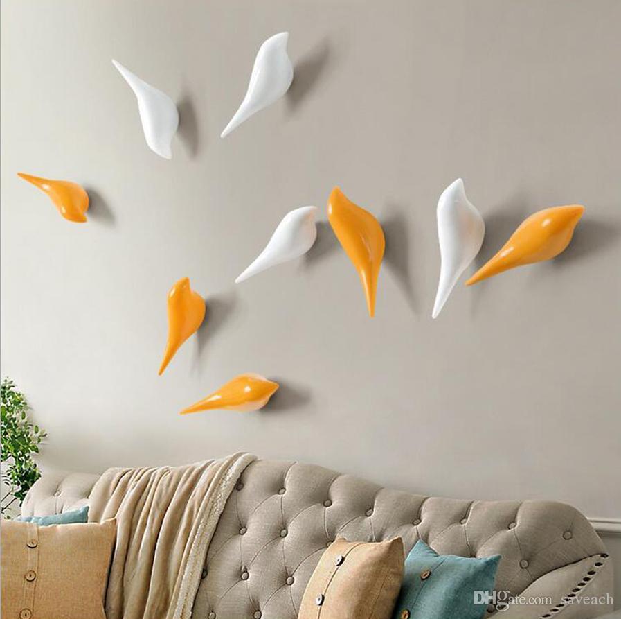 Yaratıcı Duvar Kanca Kuş Dekorasyon Reçine Malzeme Kanca Hayvanlar Yatak Kanca Sonra Yatak Odası Kapı 3D Ceket Kanca Tek Duvar Askı