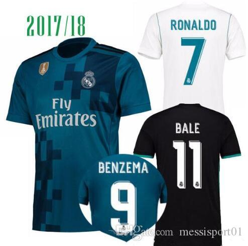 18ee71d11 ... TOP QUALITY 2017 2018 Real Madrid Home Away Third Soccer Jerseys 17 18  Real Madrid RONALDO ...