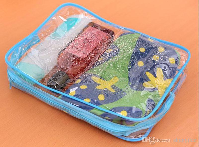 PVC Klar Frauen Make-Up Kosmetiktasche Wasserdicht Transparent Make-Up Veranstalter Lagerung Waschen Reise Kultur Zubehör Liefert ZA2546