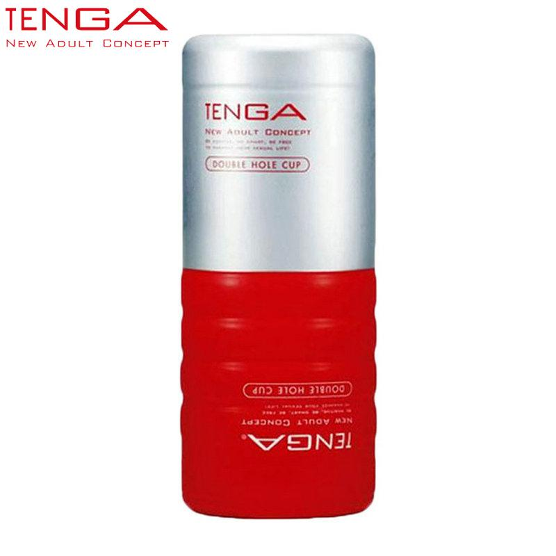 TENGA Pussy Sex Cup Masturbators Vagina Male Masturbation Cup Adult Sex Toys For Men Tenga Double Hole Male Cup TOC-104 q170686