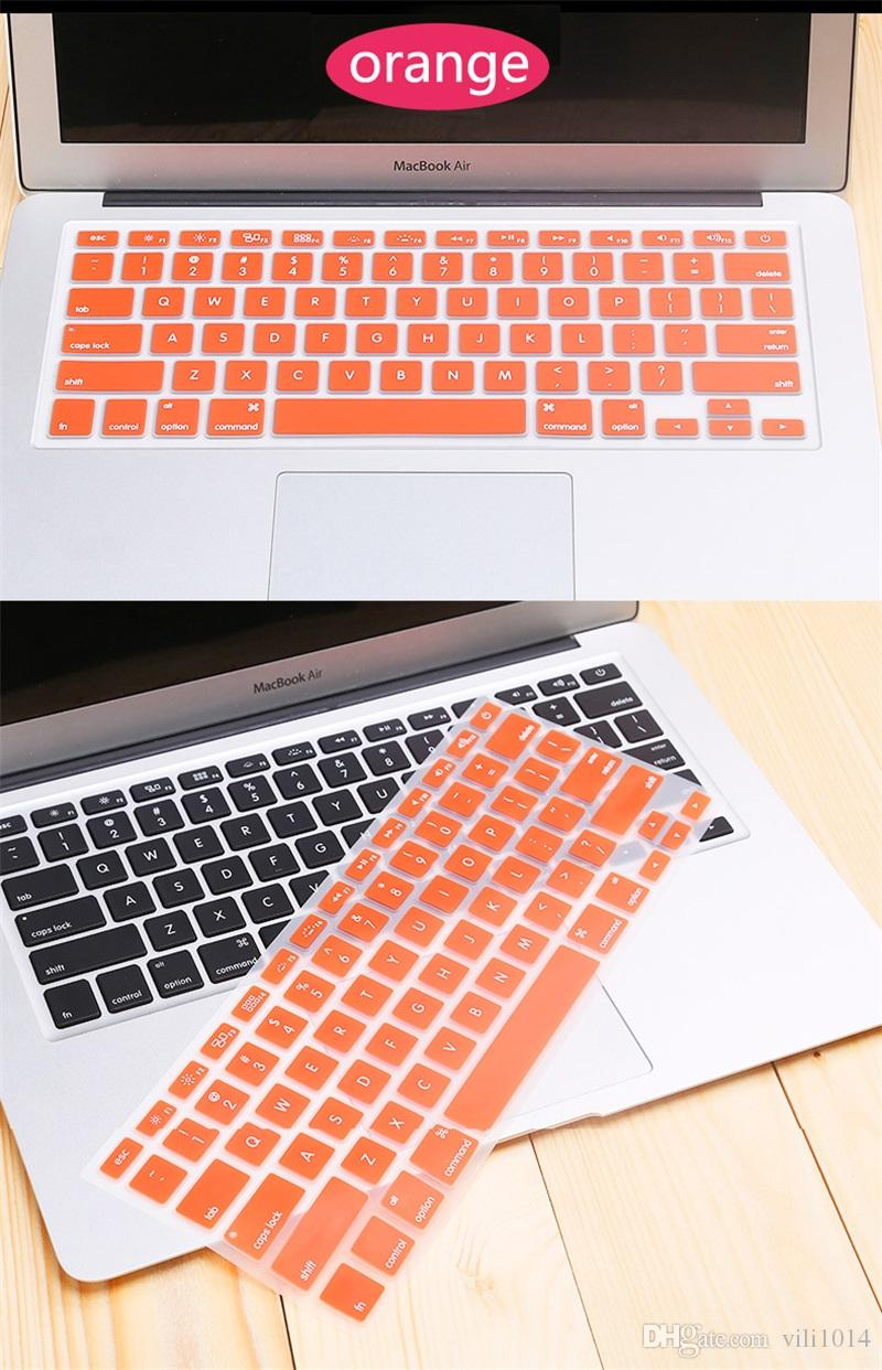 "Best Silicone Keyboard Skin Cover Case for Macbook Air Pro 13"" 15"" 17"" Inch PP Keyboard Protective Film"