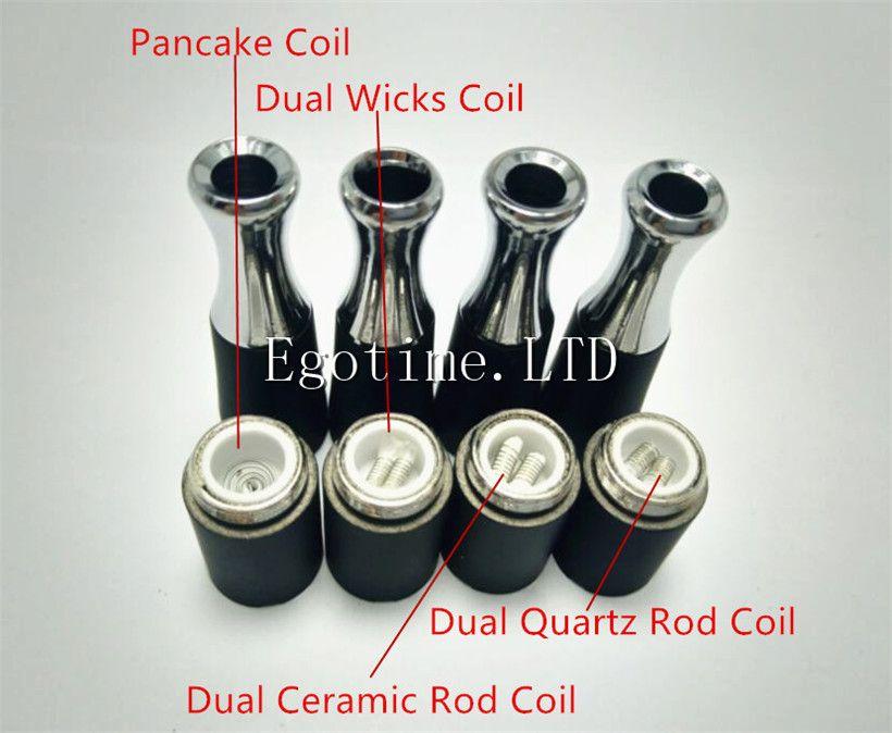 Dual Quart coil 510 atomiseur de cire de poêle à crêpe à double bobine de poêle à quartz Ego-M7 D dispositif de combustion de la cire à la vapeur D réservoir en verre Globe