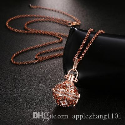 Fashion Jewelry Angel Ball Bola Metal Copper Magic Box Perfume Diffuser Pregnant Women Pendant in Charm Necklace for women gift