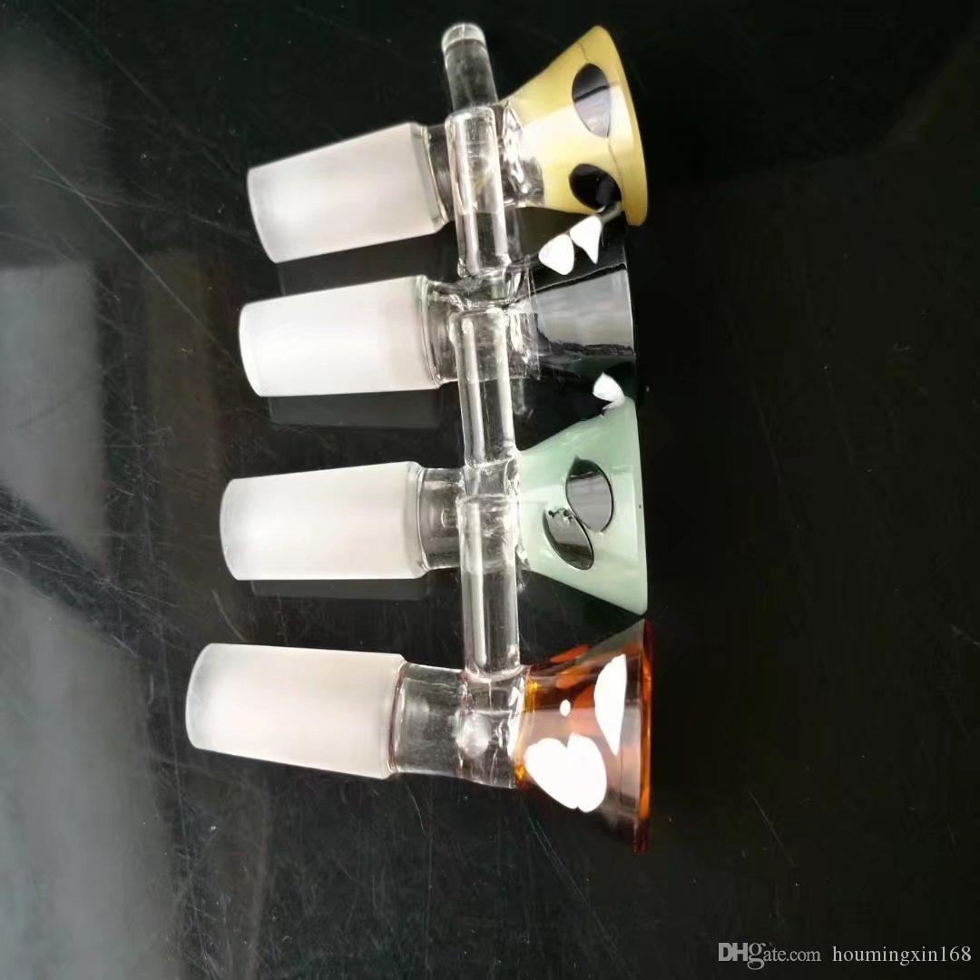 Adaptador del embudo del color, bongs de cristal al por mayor, cachimba de cristal, accesorios de la tubería de humo