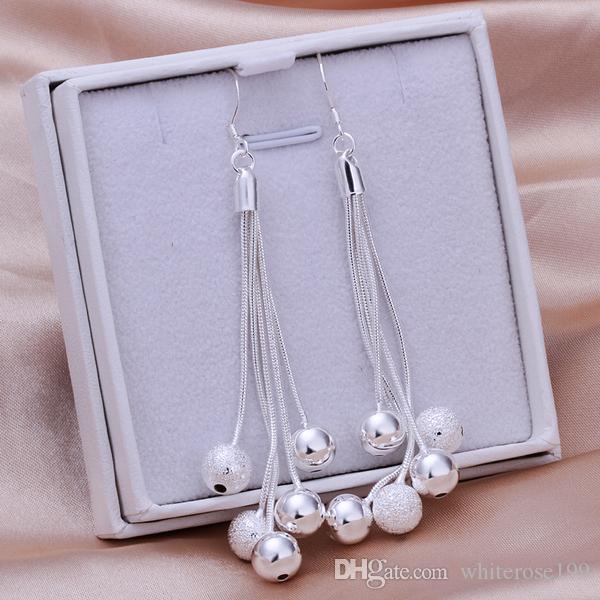 Großhandel - niedrigsten Preis Weihnachtsgeschenk 925 Sterling Silber Fashion Halskette + Ohrringe Set QS363