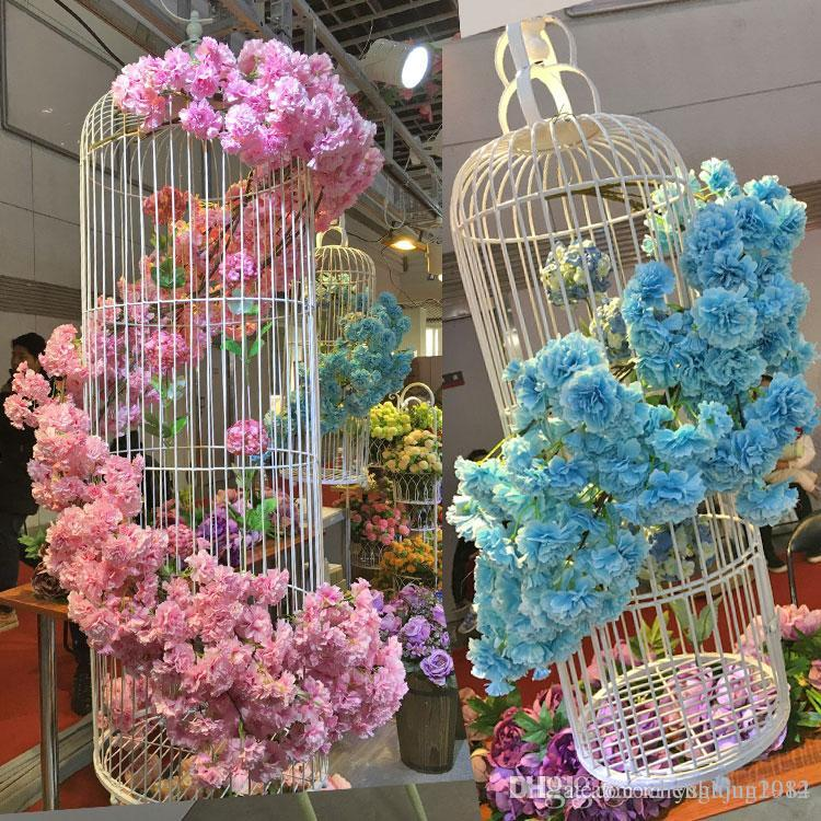 2018 Artificial Wisteria Flower Garland Branch Wedding Decoration Hanging  Cherry Peach Blossom Flowers Wall/Windows/Door Decorations From  Chenglong1982, ...