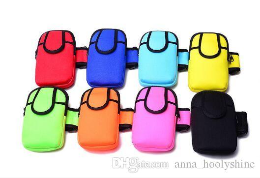 Бесплатная доставка топ-продажи неопрена кошелек с передним карманом неопрена портмоне с ремешком высокое качество телефон сумка мобильный телефон сумка