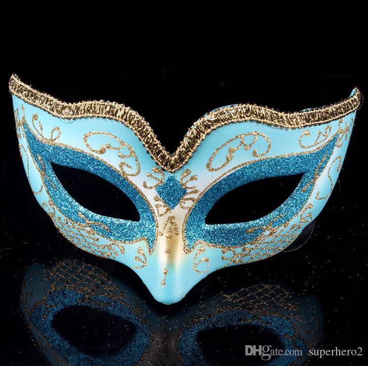 Masquerade Ball Dance Mask Fashion women Costume Fancy Dress Prom Eye Mask Mardi Party wedding masks Gold Glitter Edge favors