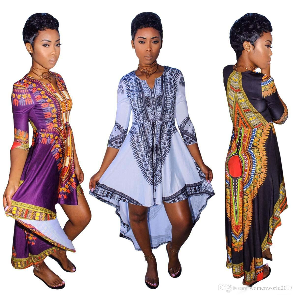 African American Girls Fashion: African Clothes For Women O Neck Africa Bazin Dress
