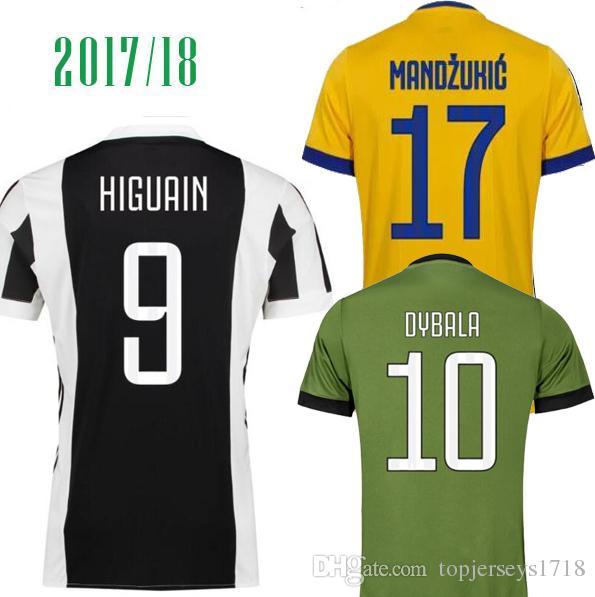 17 18 19 Juventus RONALDO Dybala Higuain Mandzukic Marchisio Jersey De  Fútbol 2018 Camiseta De Fútbol Uniforme De Local Lejos Camiseta 3ª  Equipación De ... 58dc6da0a844f