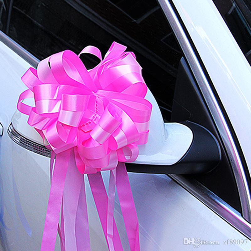 ribbon pull flower bows wedding car decoration wedding car accessories wedding flowers