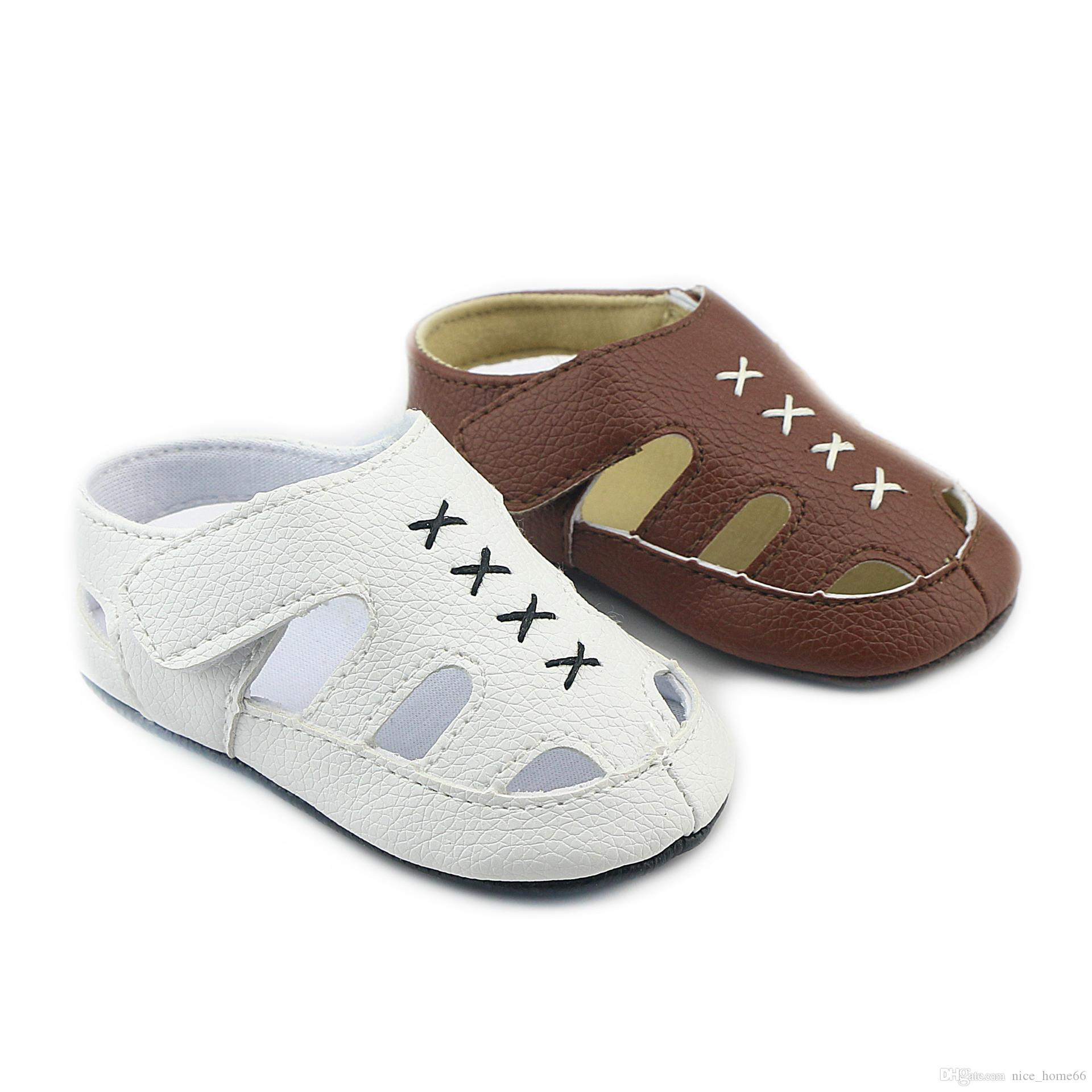 Baby Soft Sole Walking Shoes PU Leather Baby First Walker Shoes Newborn Toddler Shoes Summer Kids Sandals