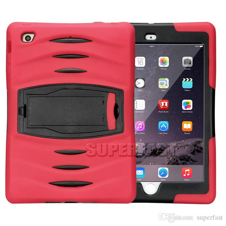 Tablet Defender Case For iPad Mini 4 Armor Hybrid Bumper Kickstand Case Rugged Protective Case For Galaxy Tab with OPP Package