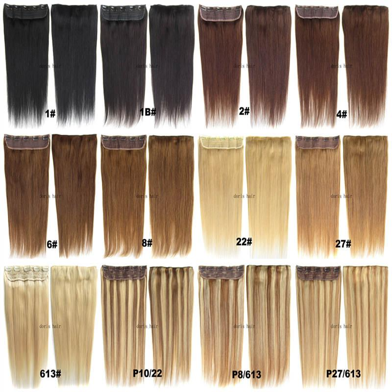 Free Dhl Indian Remy Clip In Human Hair Extensions Straight 105g