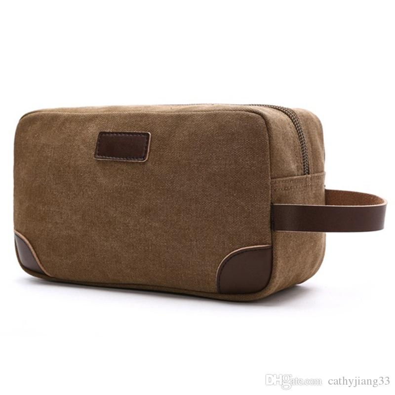 2019 Canvas Travel Bag Toiletry Organizer Shaving Dopp Kit Travel Cosmetic  Bag Makeup Men Handbag Casual Zipper Wash Cases Women Toiletry Make UP From  ... 16d22f67e5