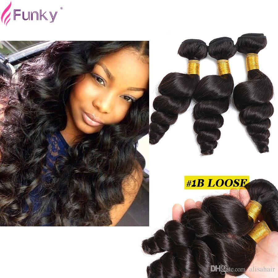 2018 Brazilian Loose Wave Virgin Hair 3 Bundles Loose Weave Curly