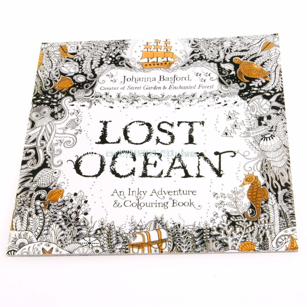 New Lost Ocean Drawing Coloring Book Graffiti Books Adult Painting Children Colouring In For Adults Kids Pages From Love1love