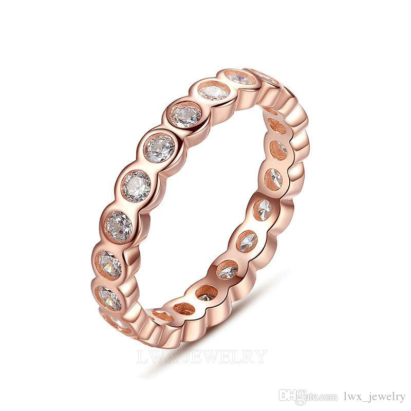 2018 100 Pure 925 Sterling Silver Jewellery Rose Gold Color