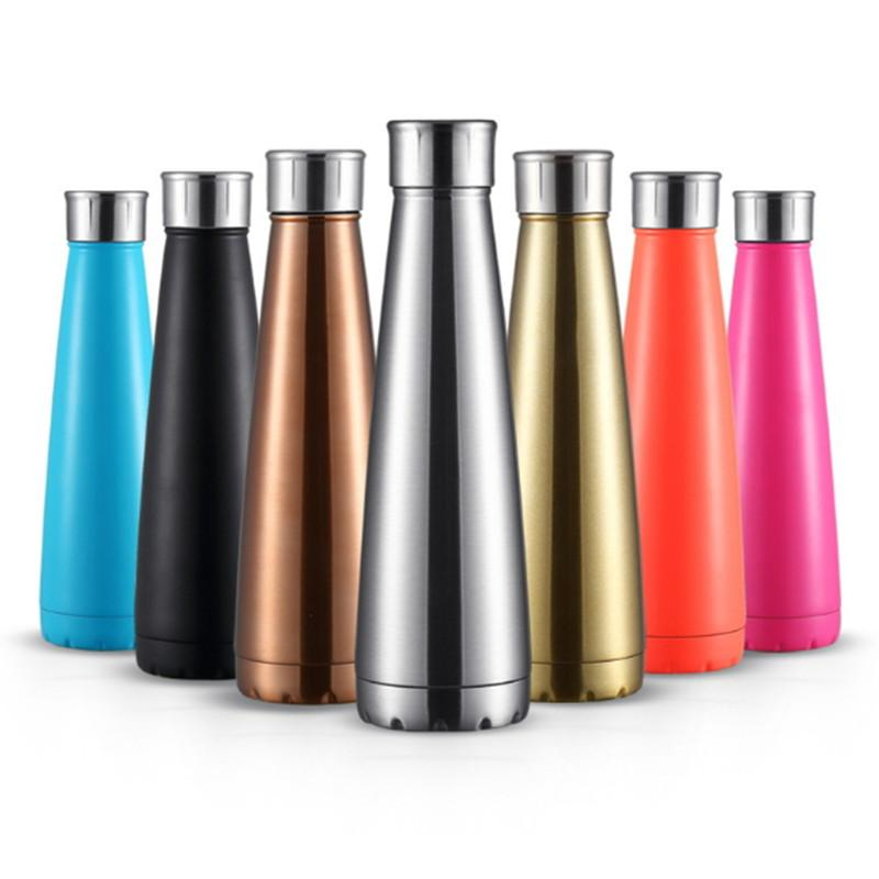 water bottle vacuum cup coke bottle cola shaped insulated double