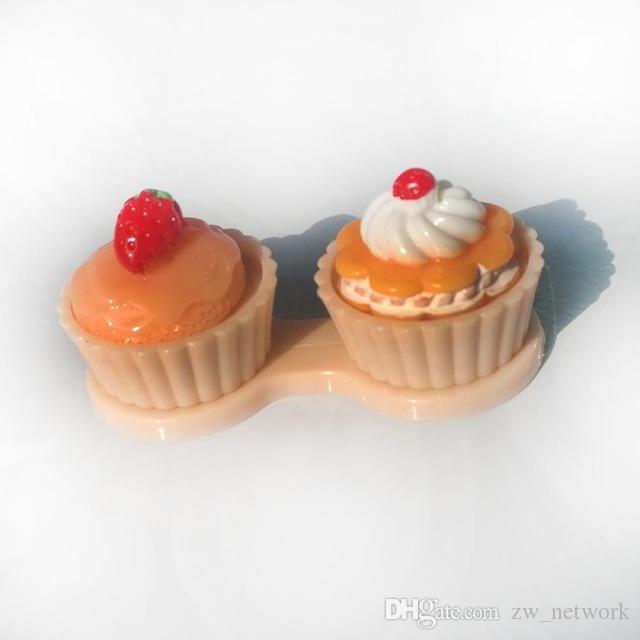 Портативный мультфильм милый крем торт путешествия очки двойной контактные линзы коробка контактные линзы чехол для глаз Уход комплект держатель контейнера