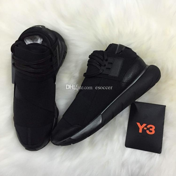 All Black White Color Mens Y3 Qasa High Top Sneakers Good Quality Womens  Shoe Unisex Men Y 3 Black Red Shoes Boots Size 36 45 UK 2019 From Esoccer 07e6a607a77e
