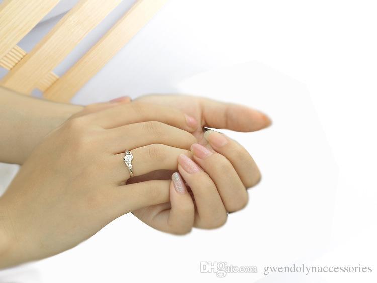 Обручальные кольца для женщин Циркон Кристалл кольцо ювелирные изделия Оптовая лучший подарок для женщин YDHR120