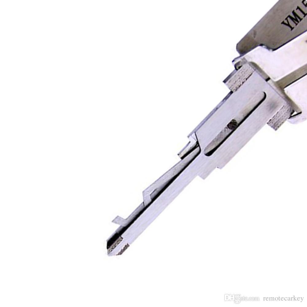 Подлинная Lishi YM15 2 в 1 двери автомобиля отмычку и декодер отмычку наборы для Dodge